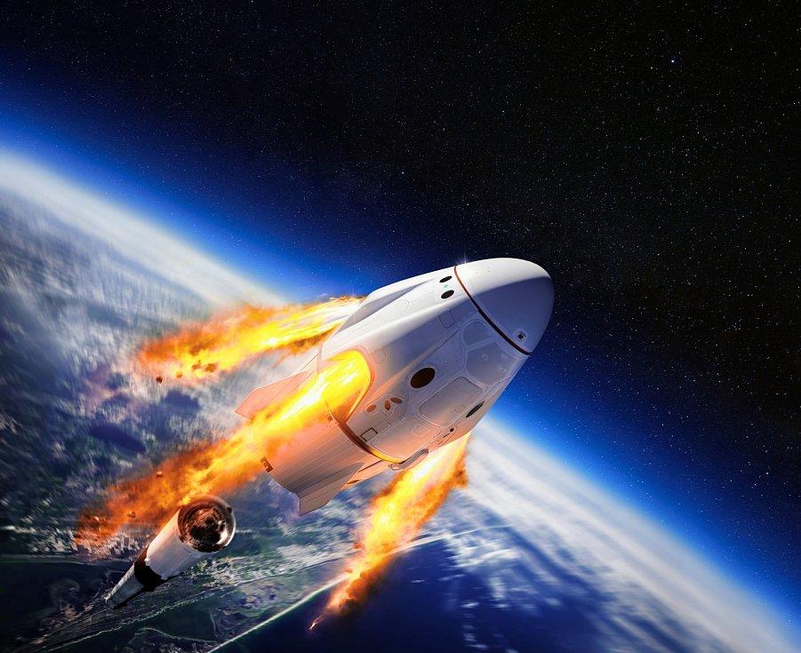 Crew Dragon společnosti Elona Muska SpaceX.