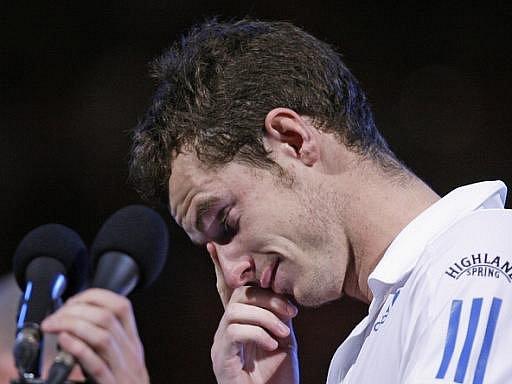 Skot Andy Murray neskrýval po prohraném finále Australian Open slzy.