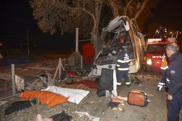 Havárie autobusu v Turecku.