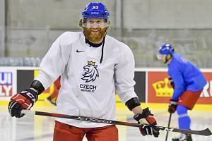 Kapitán Jakub Voráček 7. května 2019 na prvním tréninku české hokejové reprezentace na mistrovství světa v Bratislavě.