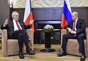 Prezident Miloš Zeman a jeho ruský protějšek Vladimir Putin