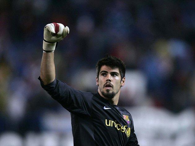 Brankář Barcelony Victor Valdes.