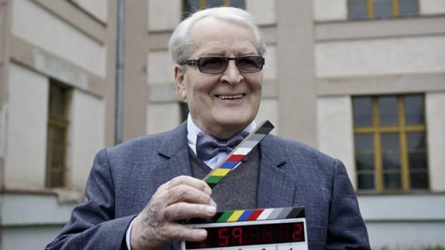 Vladimír Brabec v Kladně při natáčení filmu Příběh kmotra.