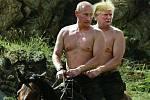 Putinovy fotky se staly vděčným zdrojem parodií