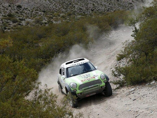 Stephane Peterhansel na Rallye Dakar 2013.