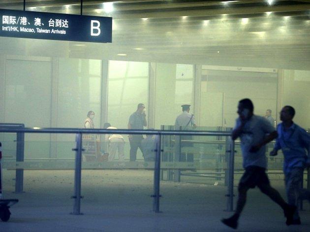 Pekingským letištěm otřásla silná exploze.