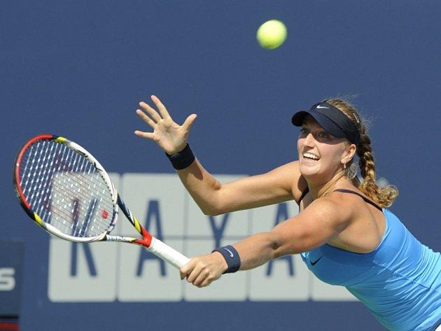 Petra Kvitová ve finále turnaje v New Havenu.