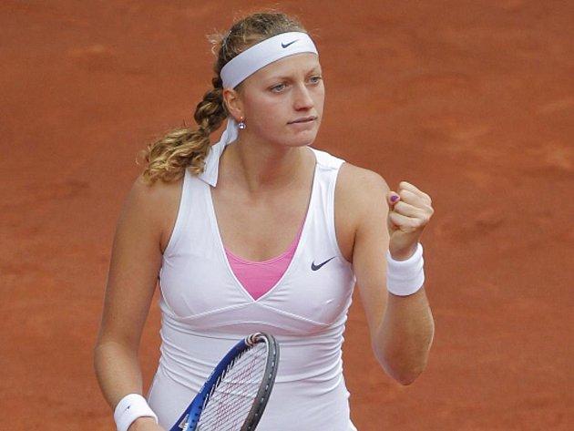 Petra Kvitová slaví postup do finále na turnaji v Madridu.