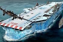 Umělecká představa HMS Habbakuk