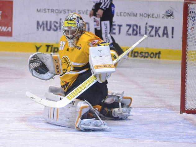 Brankář Litvínova Pavel Francouz.