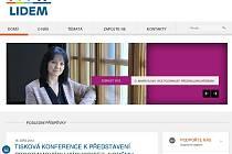 Webová stránka politické strany Lidem
