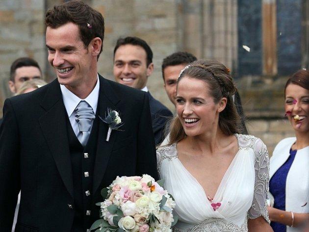 Novomanželé: Andy Murray a Kim Searsová