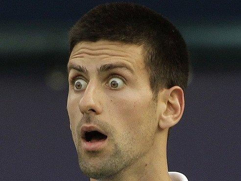 Novak Djokovič nevěří vlastním očím.