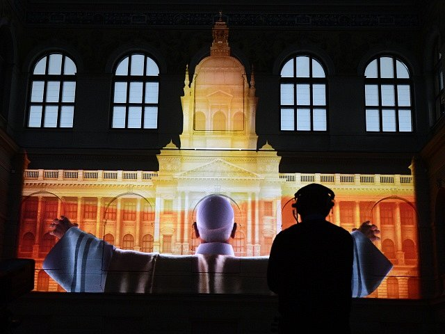Videomapping v Národním muzeu