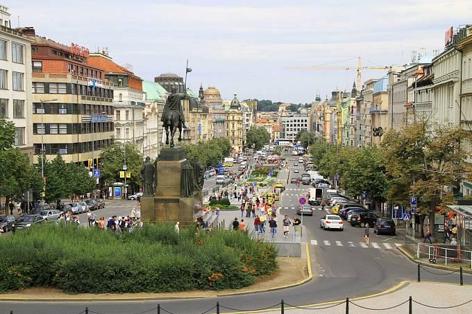 Václavské náměstí, pohled od Národního muzea