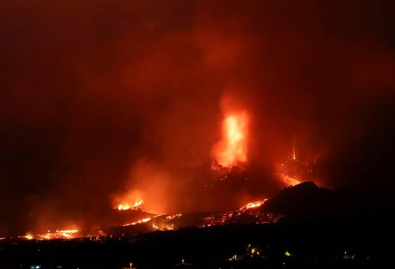 Erupce sopky na ostrově La Palma.