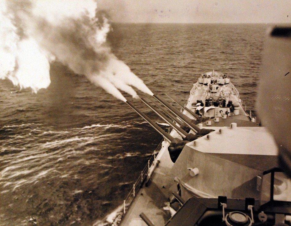 Ostřelování německých pobřežních sil během operace Dragoon