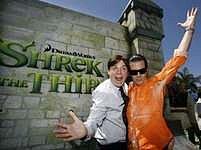 Shrek: Mike Myers a Antonio Banderas na premiéře Shreka Třetího