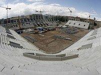 Rozestavěný stadion Slavie Praha, fanoušci se už těší.