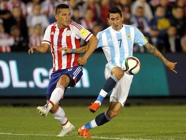 Ángel Di Mária a neúspěšný zápas Argentiny s Paraguayí