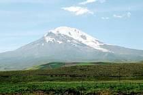 Pohled na sopku Chimborazo v Ekvádoru.