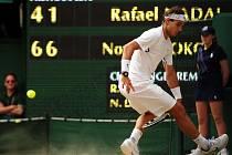 Rafael Nadal ve finále Wimbledonu.