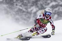 Eva-Maria Bremová při obřím slalomu v Jasné