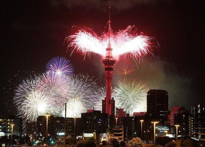 Novozélandský Auckland přivítal nový rok 2019