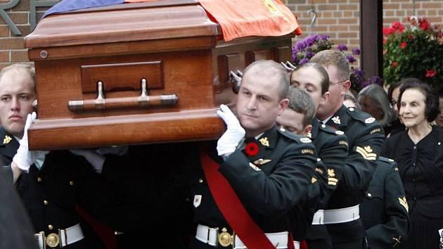 Pohřeb Tomáše Bati juniora v Torontu.