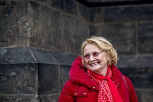 Herečka Regina Rázlová při fotografování pro Deník 31. ledna v Praze.
