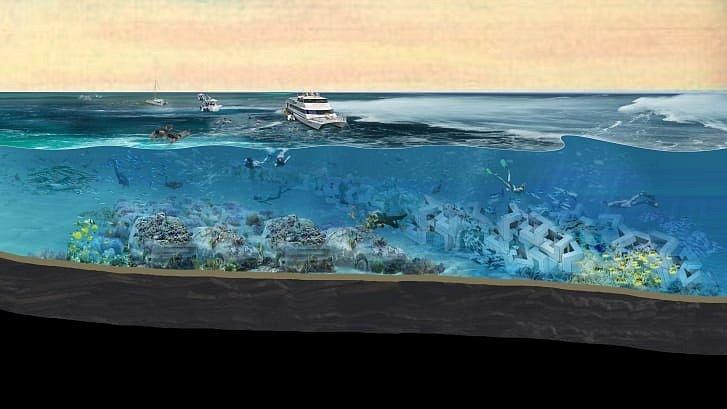 Plánovaná podoba podmořského parku ReefLine