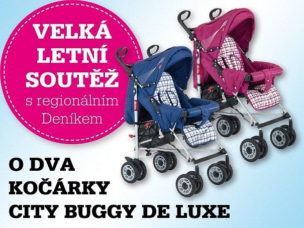 VELKÁ LETNÍ SOUTĚŽ s regionálním Deníkem o dva kočárky City Buggy de Luxe - můžete soutěžit právě teď!.