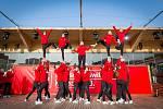 Švýcarský dům na olympijských hrách v Pchjongčchangu.