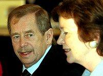 Václav Havel s bývalou irskou prezidentkou Mary Robinson
