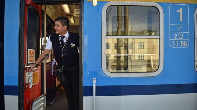 Vlak Českých drah. Ilustrační foto.