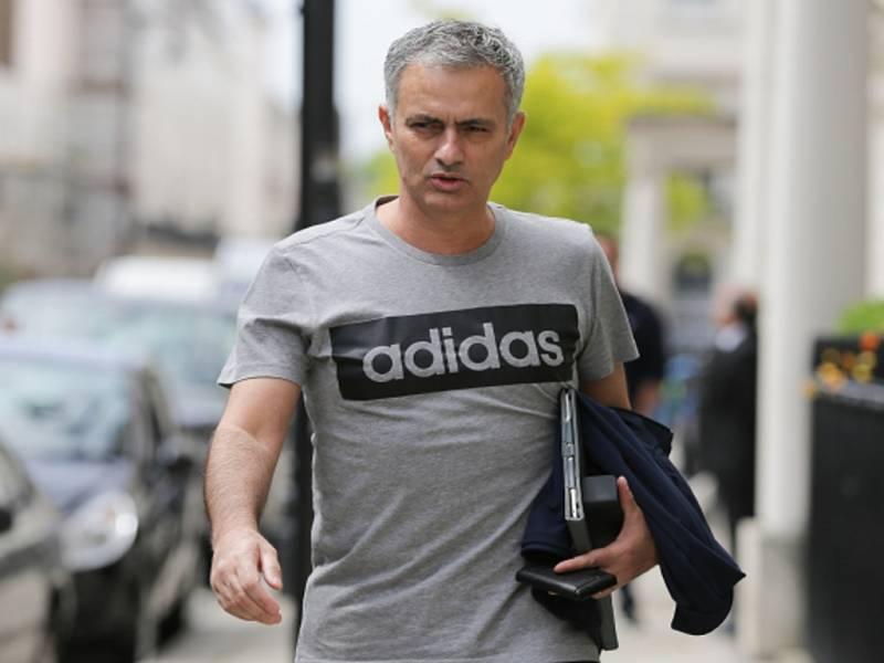 Trenér Manchesteru United José Mourinho.