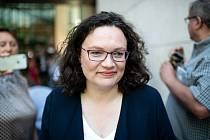 Bývalá předsedkyně německé SPD Andrea Nahlesová
