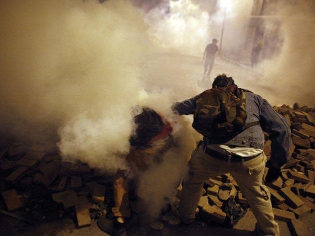 Protivládní demonstrace v Turecku.