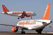 Letadla airbus společnosti EasyJet