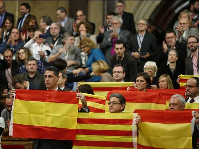 Katalánské strany podporující nezávislost regionu na Španělsku