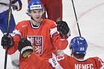 Michael Frolík se raduje z gólu.