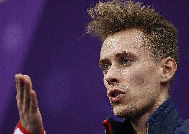 Krasobruslař Michal Březina.