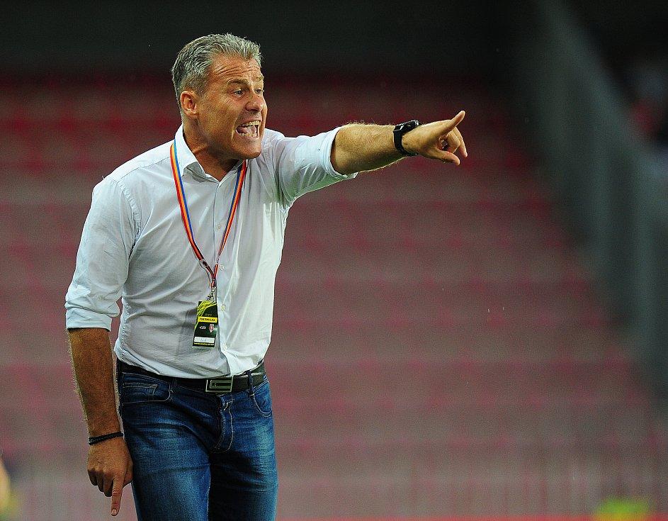 Fotbalové utkání Fortuna ligy mezi celky AC Sparta Praha a SFC Opava 21. července v Praze. Pavel Hapal.