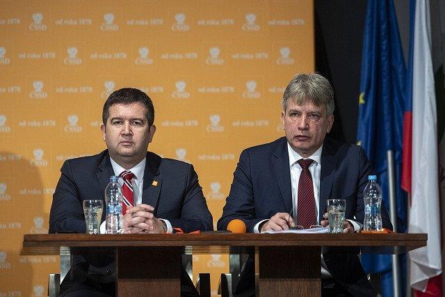 Jan Hamáček a Roman Onderka.