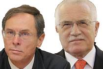 Jan Švejnar a Václav Klaus