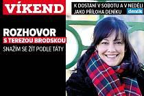Rozhovor s Terezou Brodskou, upoutávka na magazín Víkend