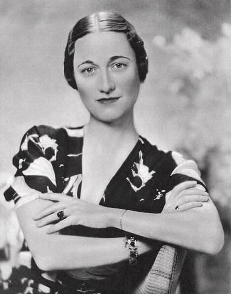 Manželka bývalého britského krále Eduarda VIII. Wallis Simpsonová, vévodkyně z Windsoru.