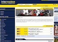 Webová stránka Interwetten