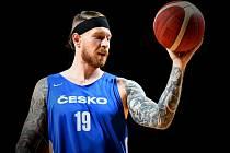Čeští basketbalisté už trénovali v Kanadě (Patrik Auda).