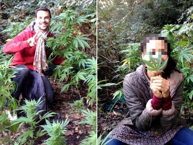 Oscar Lerin a jeho přítelkyně z Londýna našli políčko konopí.